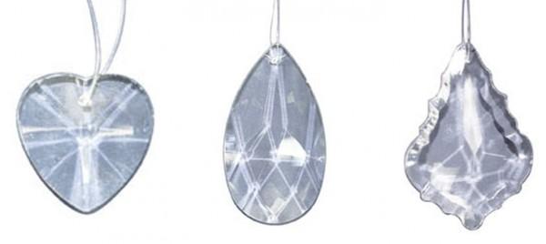 Kristallanhänger 3er-Set in Geschenkverpackung (15 x 10 x 2,5 cm)