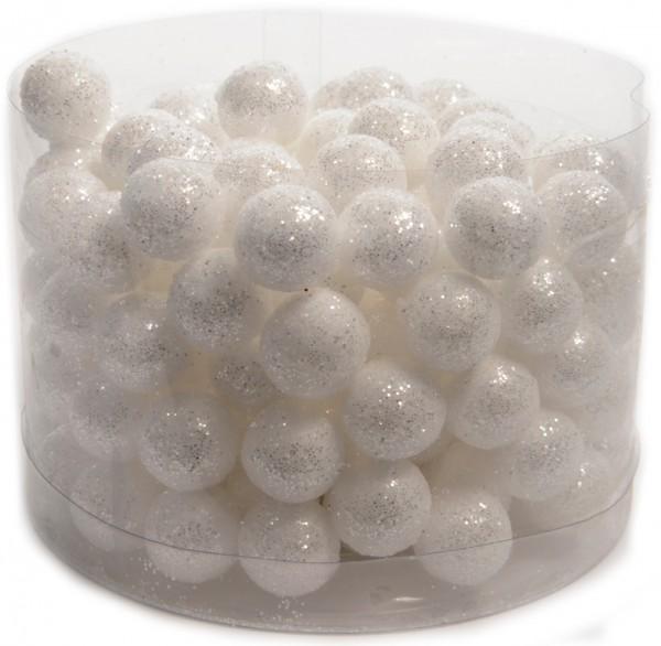 Schneekugeln mit Glitter (144 Stück / Durchmesser: 1,5 cm)