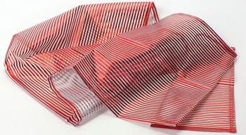 Läufer aus Organza mit Streifen (40 x 180 cm) - rot
