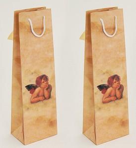 Geschenktüte mit Engel beige (35 x 10 x 8 cm)