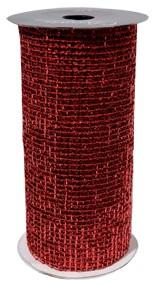 Maschenband, zur Tischdeko oder als Geschenkband (15 cm x 2,7 m) rot