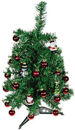 Mini-Baum inkl. Weihnachtsschmuck (30 Teile), Höhe: 38 cm