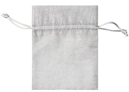 Geschenksäckchen aus Lurex EINZELN (9 x 12 cm) - silber