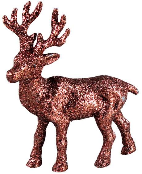 Hirsch mit Glimmer (Höhe 10,5 cm) braun