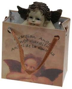 Schutzengel in Geschenktüte (6 x 6 x 3 cm)