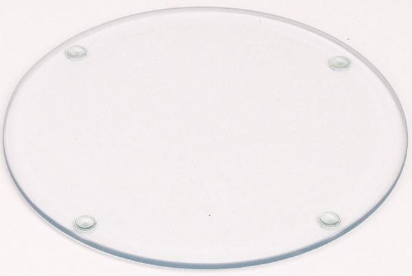 Kerzenteller aus Glas (Durchmesser: 15 cm)