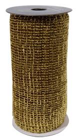 Maschenband z.B. zur Tischdeko oder als Geschenkband (15 cm x 2,7 m) gold