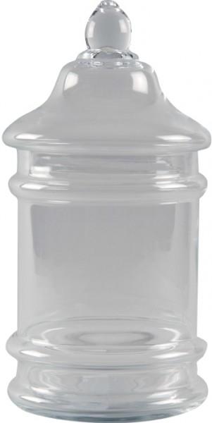 Aufbewahrungsgefäß aus Glas mit Deckel Maxi (18 x 40 cm)